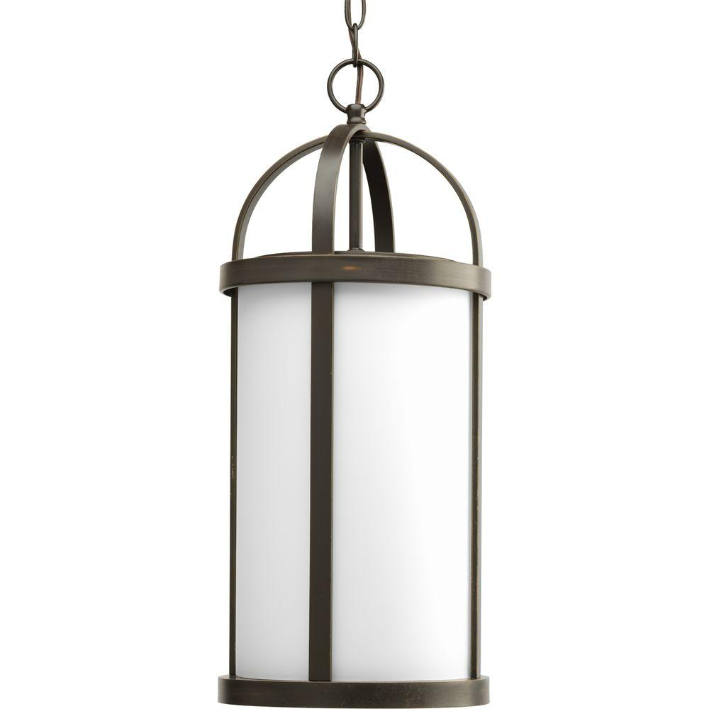 Progress Lighting Greetings Collection Antique Bronze 1-light Outdoor Hanging Lantern-P5549-20 #lightemittingdiode