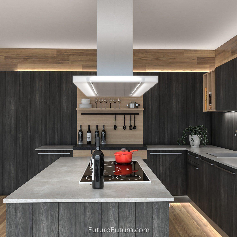 Is48luxor Glass Range Hood Luxor Island 48 Inch Model Futuro Futuro Brand 09 1500x1500 Kitchen Range Hood Island Range Hood Range Hood