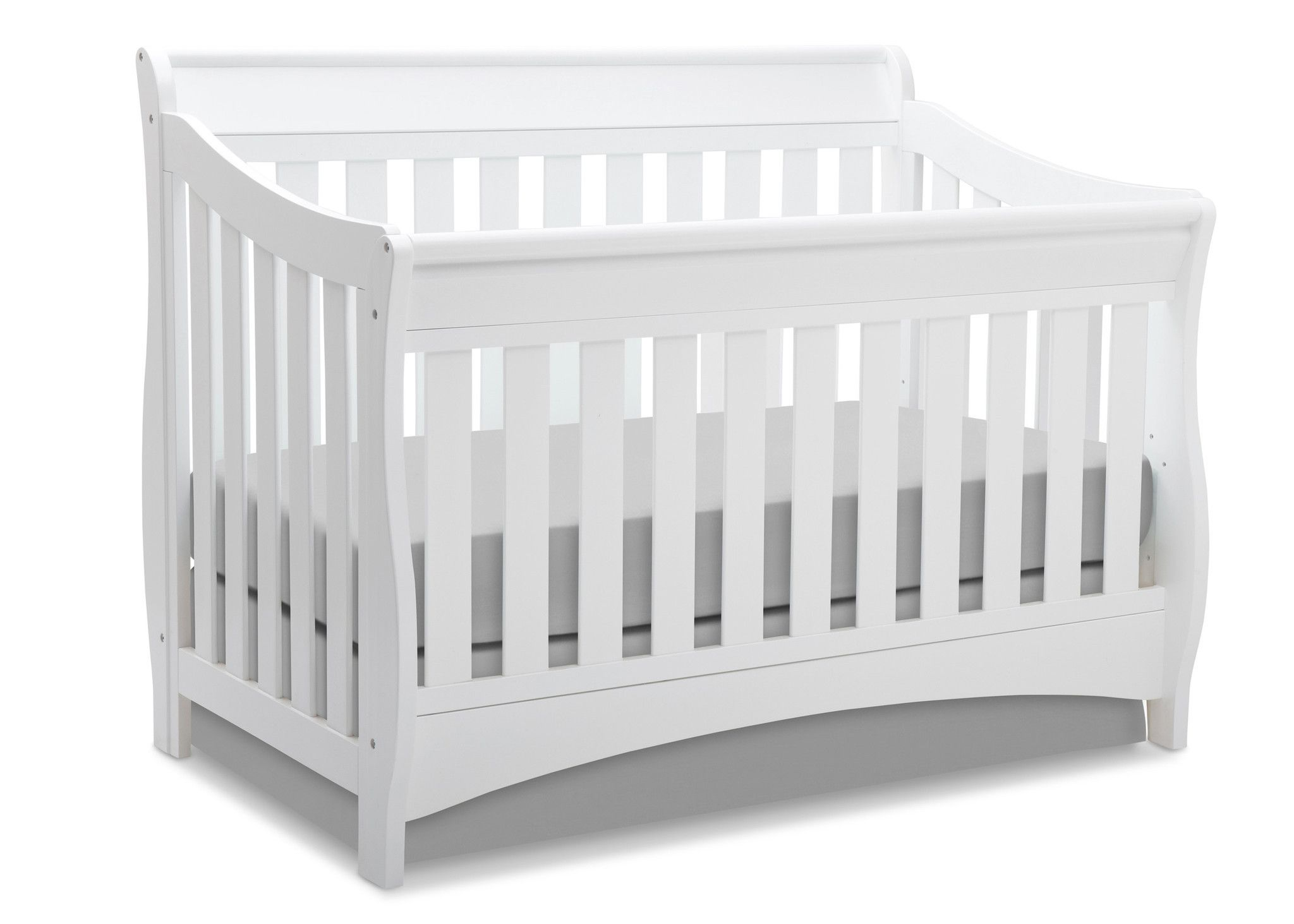 curved in bell white lifetime cribs bennington baby crib pin ambiance delta convertible