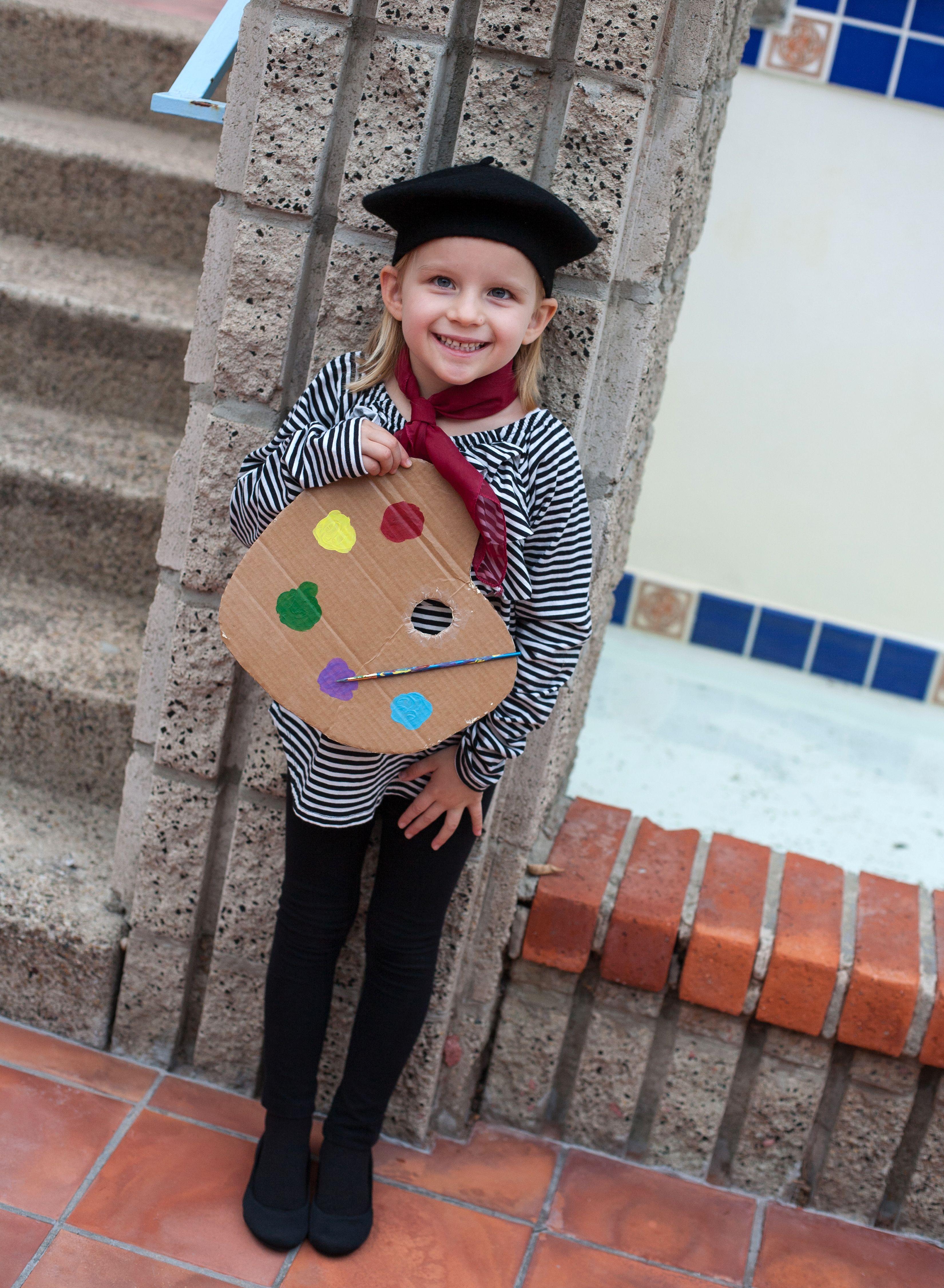 Diy French Painter Halloween Costume Halloween Costumes For Kids Family Halloween Costumes Kids Costumes