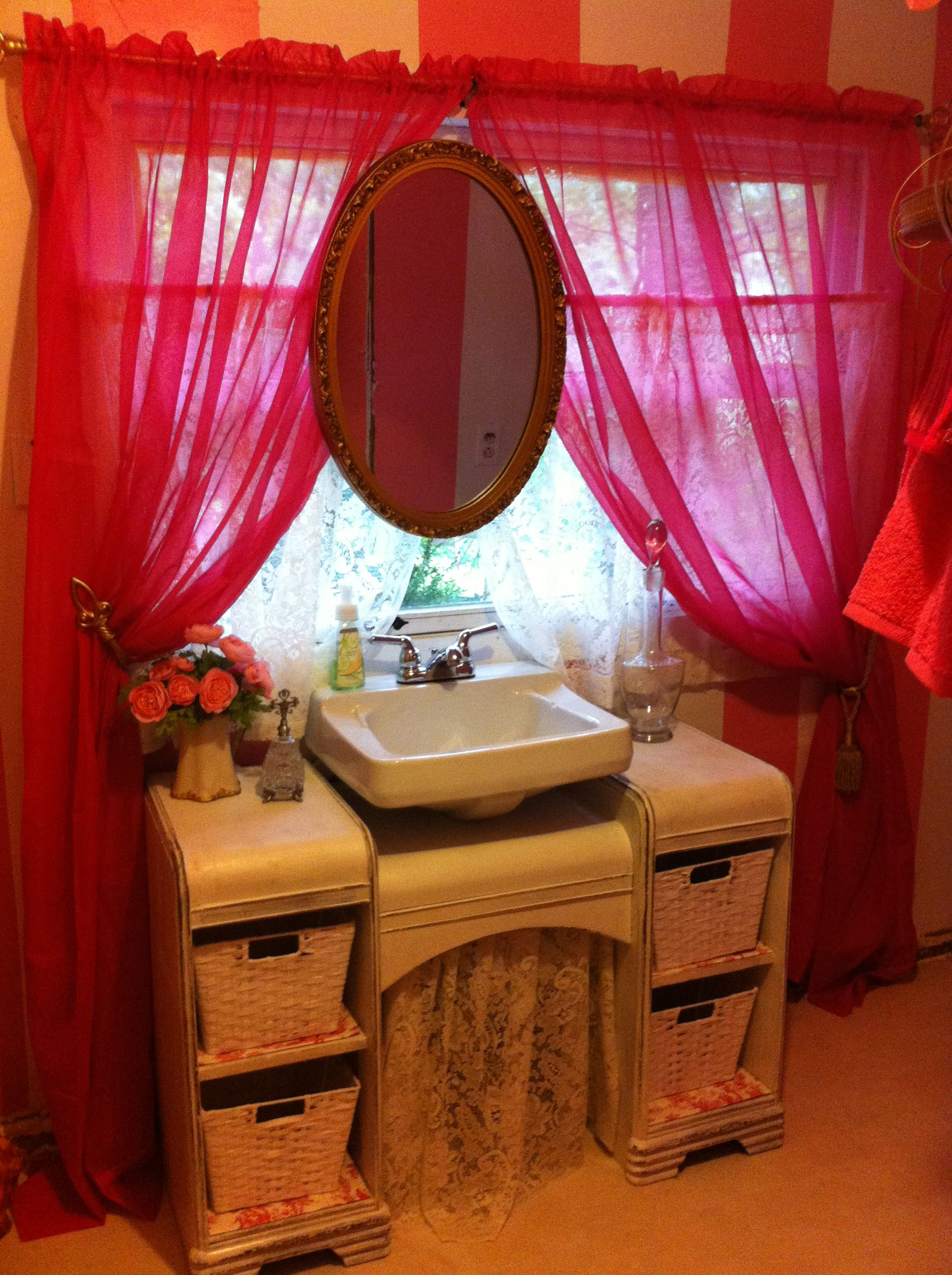 Revamped 1940's waterfall makeup table turned into ...