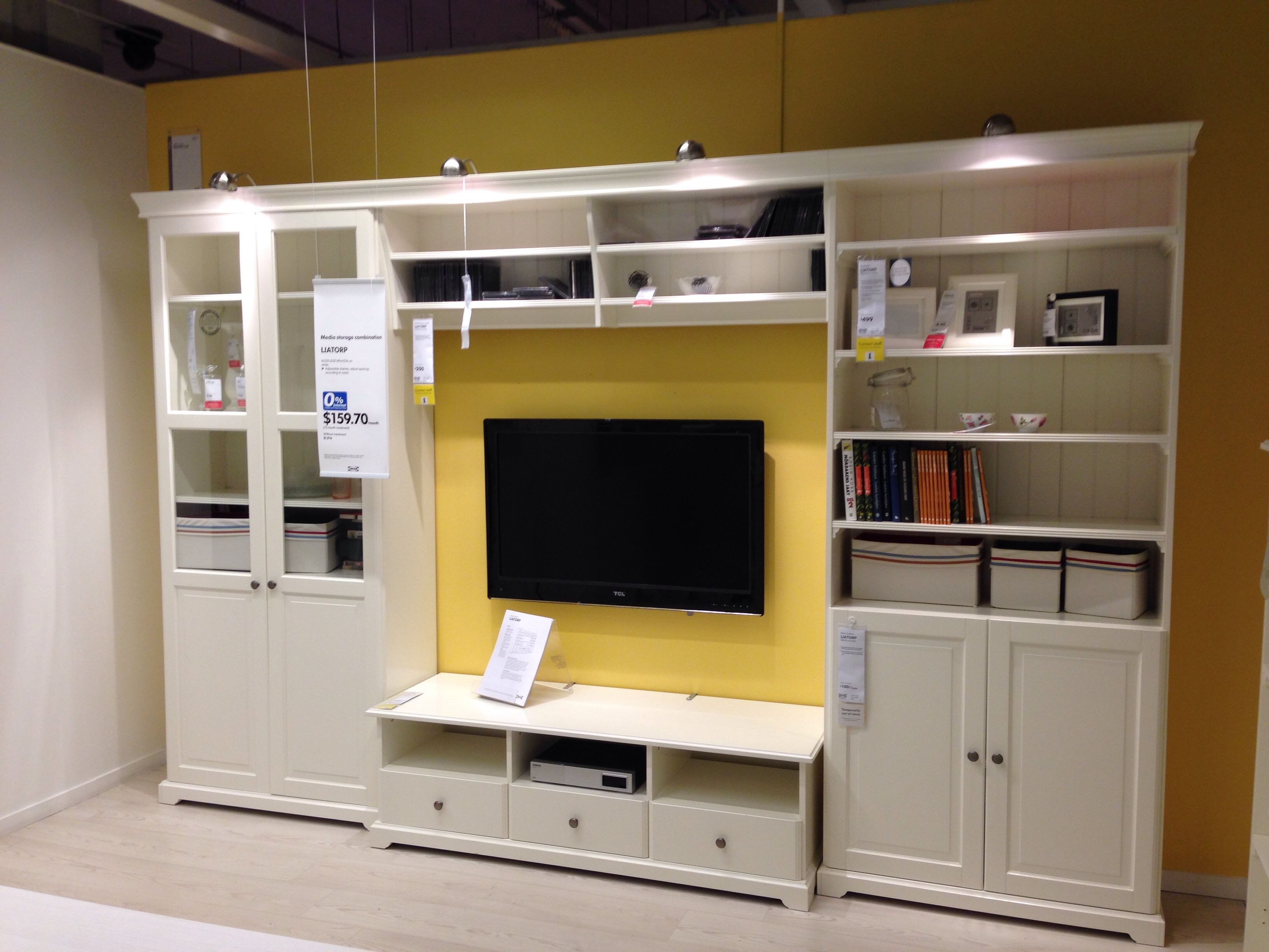 LIATORP tv and display unit A more traditional and embellished look