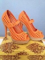 orange woven design mary jane platform size 8 ebay $55 with free shipping    http://www.ebay.com/itm/orange-woven-design-mary-jane-platform-size-8-/321102393988?pt=US_Women_s_Shoes=item4ac331b284