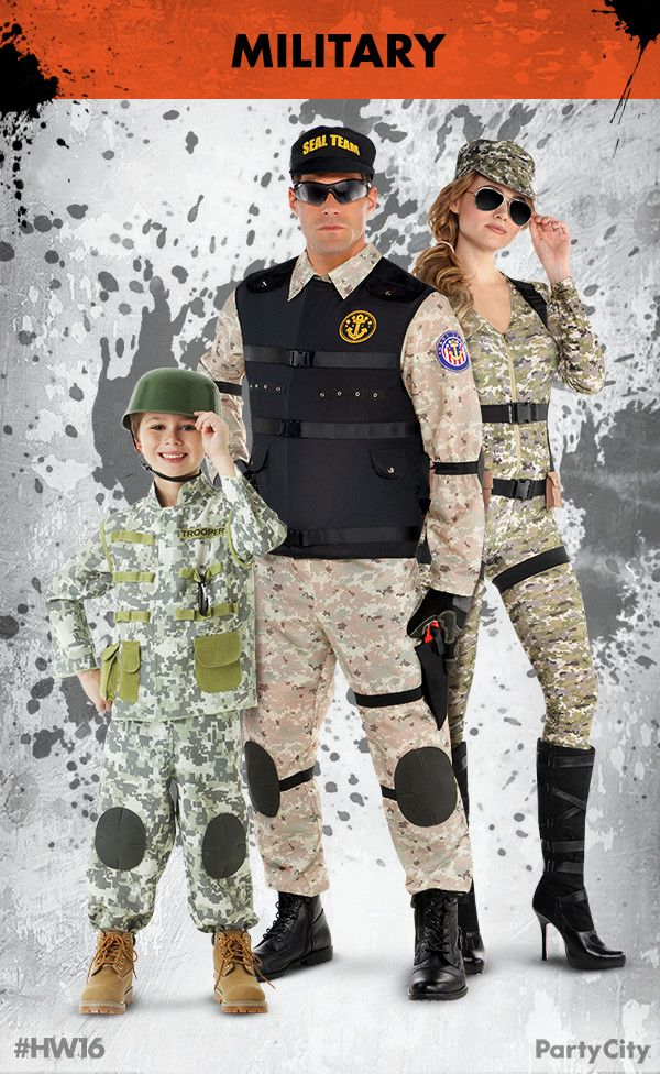 Get your Military costumes for the whole family from Party
