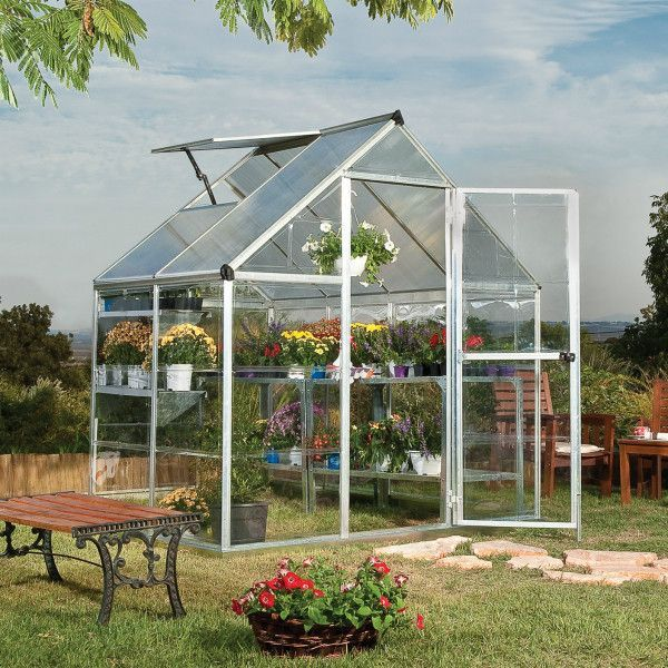 Palram 6 X 4 Ft Silver Hybrid Greenhouse Hg5504 Yard