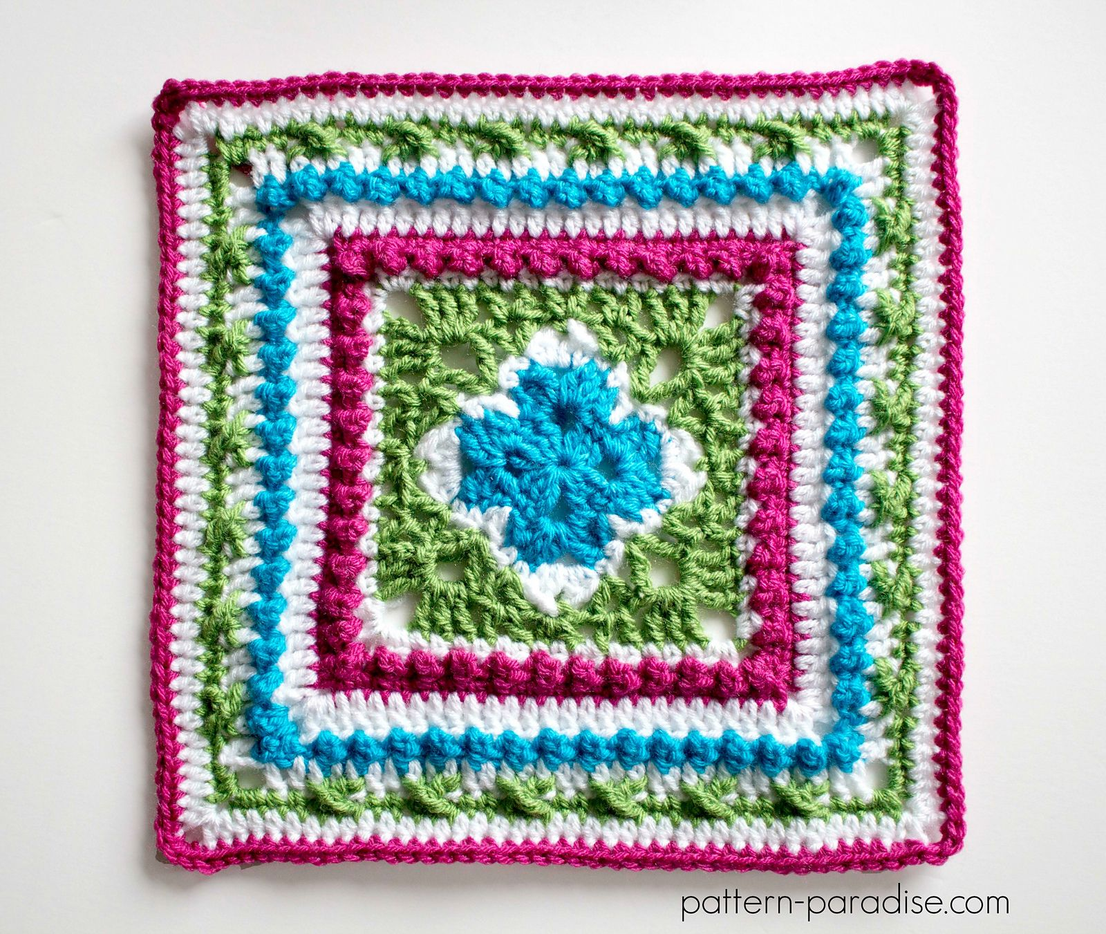 English Garden Afghan Square pattern by Maria Bittner | Strick ...
