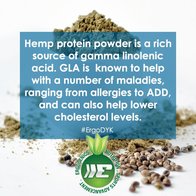 #Hemp protein is a rich source of GLA!
