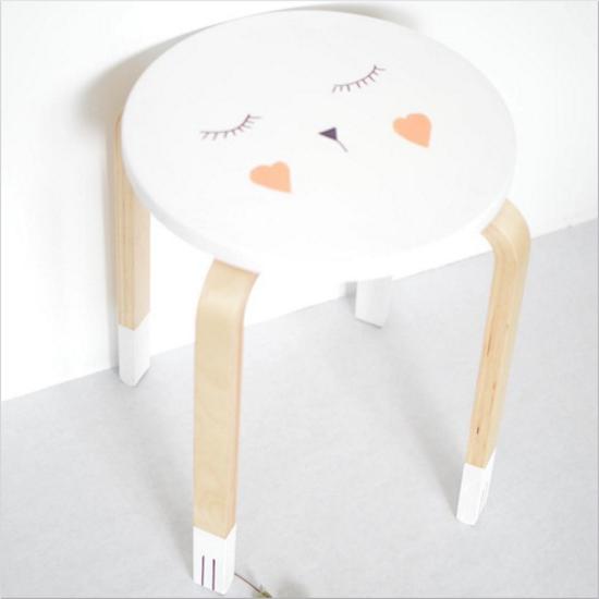 tabouret frosta ikea customisation marie la pirate blog d co d coration enfant babayaga magazine. Black Bedroom Furniture Sets. Home Design Ideas