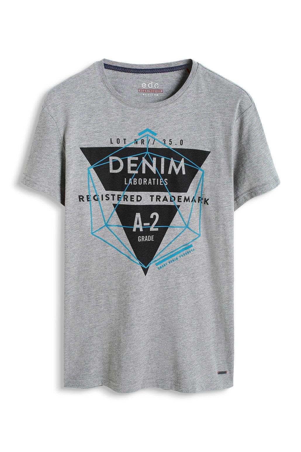 edc   T-shirt en jersey 100 % coton à acheter sur la Boutique en ligne 754a60a9777