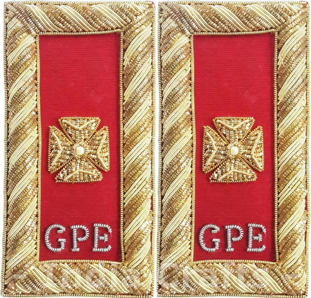 Knights Templar Grand Prelate Shoulder Boards Knight Templar Shoulder Boards