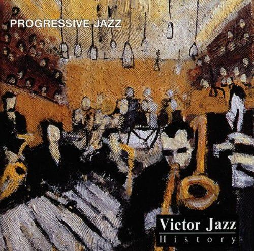 1997 Victor Jazz History Vol.15: Progressive Jazz [RCA 74321357342] cover painting by Alice Choné #albumcover
