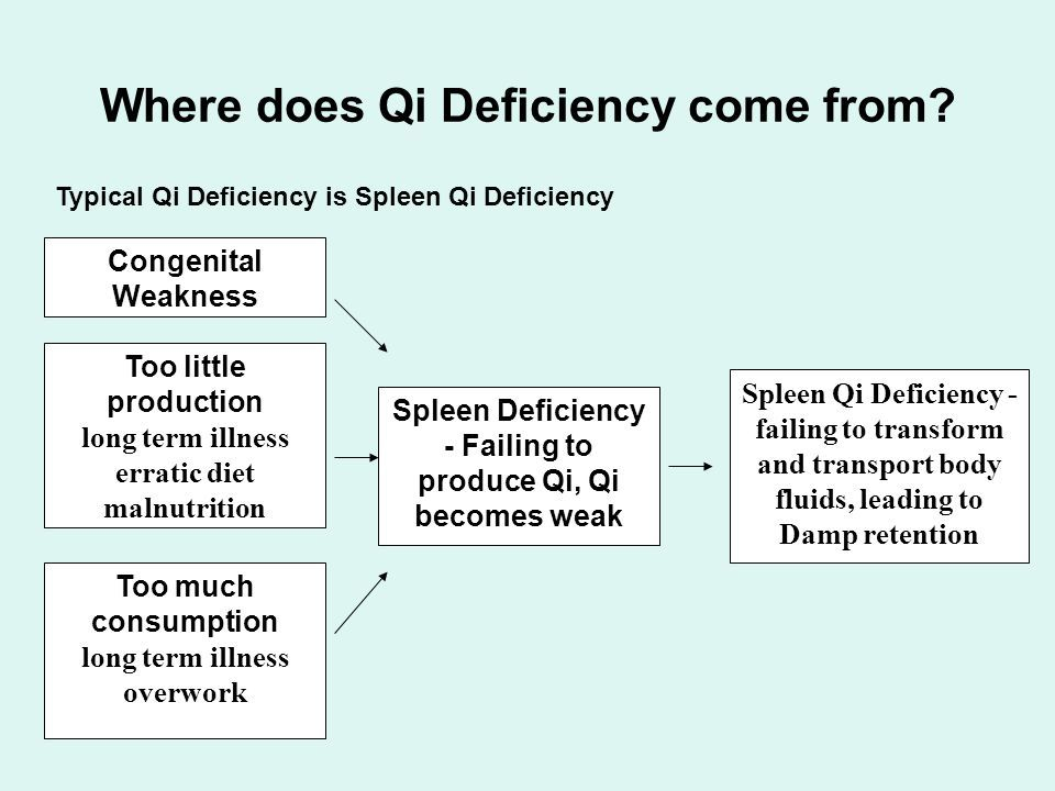 List of Synonyms and Antonyms of the Word: Qi Deficiency
