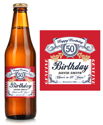 Budweiser Birthday Beer Label Icustomlabel Beer Birthday Beer Label Budweiser