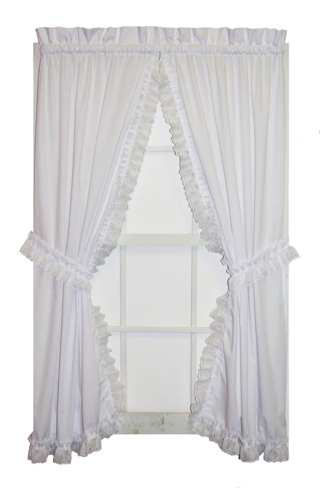 Ruffled Priscilla Window Curtains