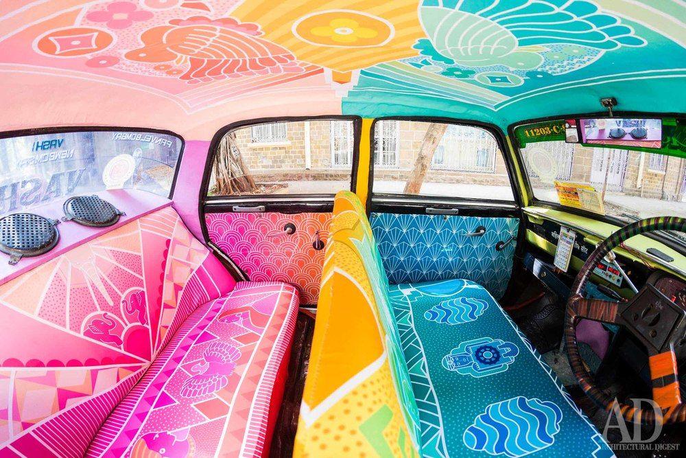 taxi fabric interior design taxi in mumbay india Dv hlavy art