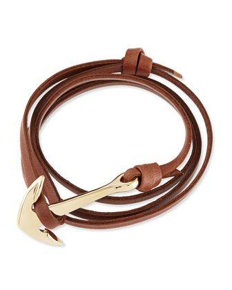 014b6504d66c Anchor Leather Bracelet