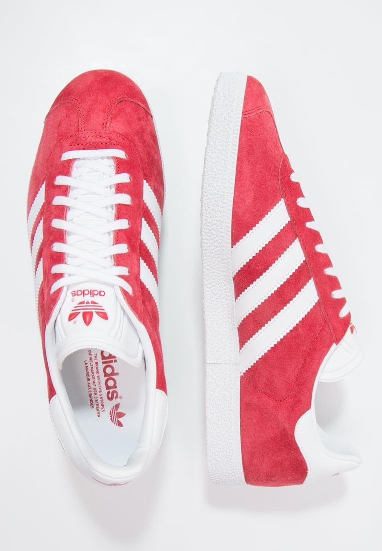 Chaussures adidas Originals GAZELLE - Baskets basses - scarlet/white/gold met rouge: 99,95 € chez Zalando (au 06/10/16). Livraison et retours gratuits et ...