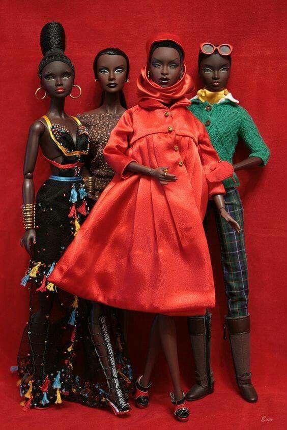 Stylish Brown Barbie Dolls