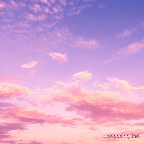 Aesthetic Pink and Purple Clouds  by keepbeingkind | Redbubble