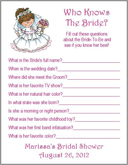 24 personalized who knows the bride bridal shower game by print4u 700 bachelorette lingerie party