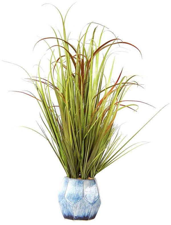 """Vintage Home 36"""" Tall Plastic Grass and Onion Grass ..."""