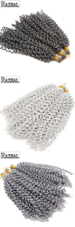 packs razeal freetress crochet braids hair extension gray