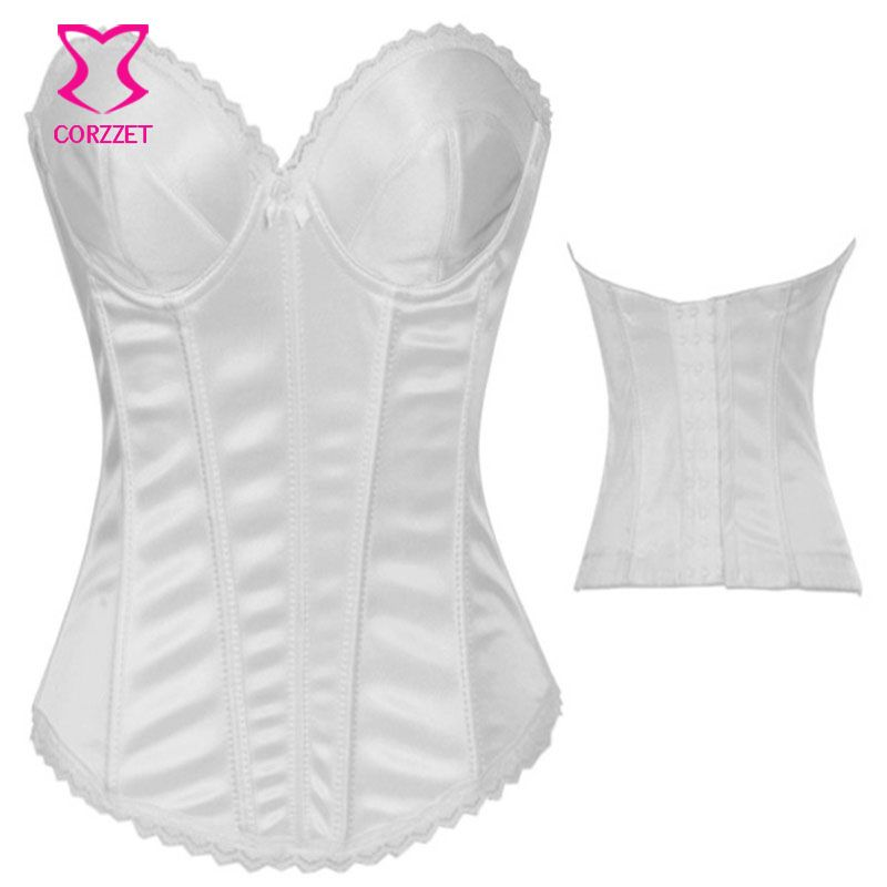 552e8d76ae3 Sexy Gothic Clothing Push Up Corsets and Bustiers Bridal Corpetes E  Espartilhos Plus Size Corset White Wedding Bustier Top Korse