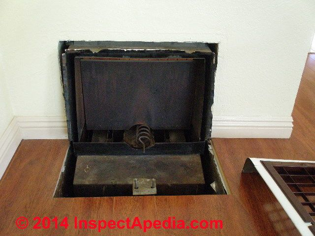 Royal Metal Works Gas Fired Floor Heater C Inspectapedia