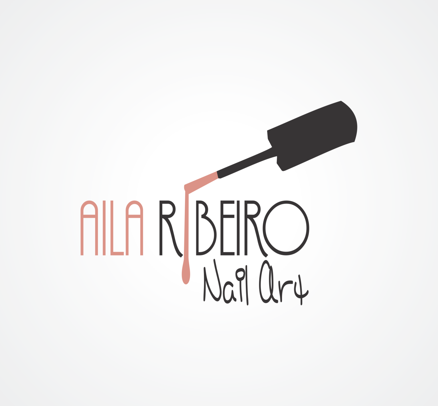 aila ribeiro nail art makeup artist logo pinterest