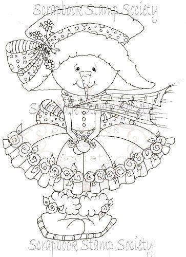 Faça o Download Digital Digi selos Menina de Neve Eyed grande Besties Big Head Dolls Digi por Sherri Baldy