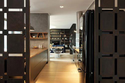 Stoere woonkamer met scheidingswanden   Keuken   Pinterest