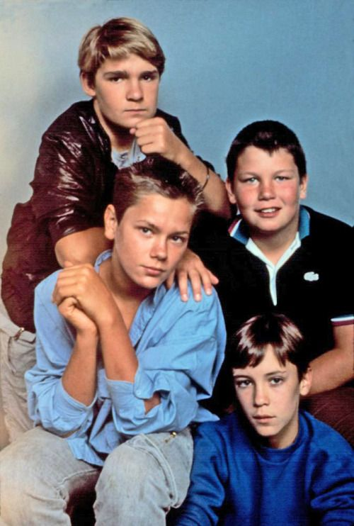 STAND BY ME, Corey Feldman, River Phoenix, Jerry O'Connell, Wil Wheaton, 1986.  Such a great movie
