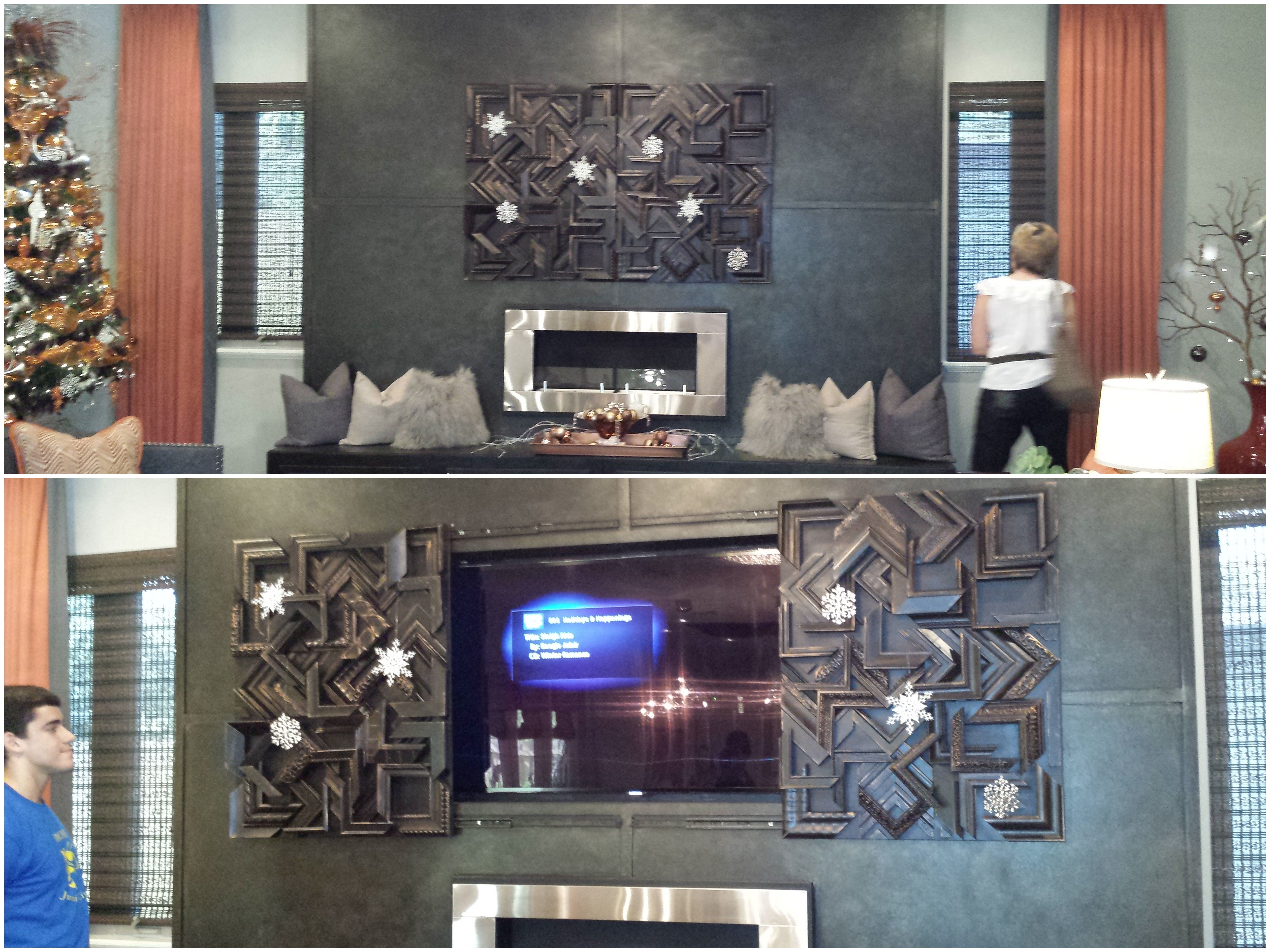 hide the tv with remote controlled art residential interior design
