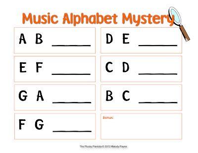Music Alphabet Mystery   Mystery, Music education and Music classroom