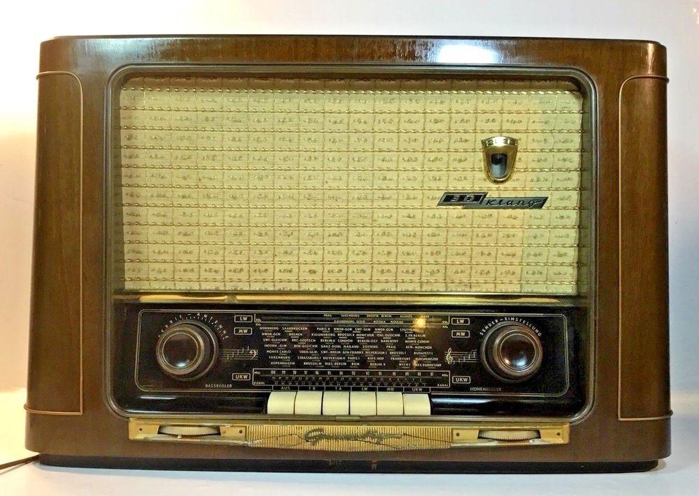 1956 Rare Vintage Grundig Tube Radio Model 2035 56 German Model Vintage Radio Antique Radio Radio