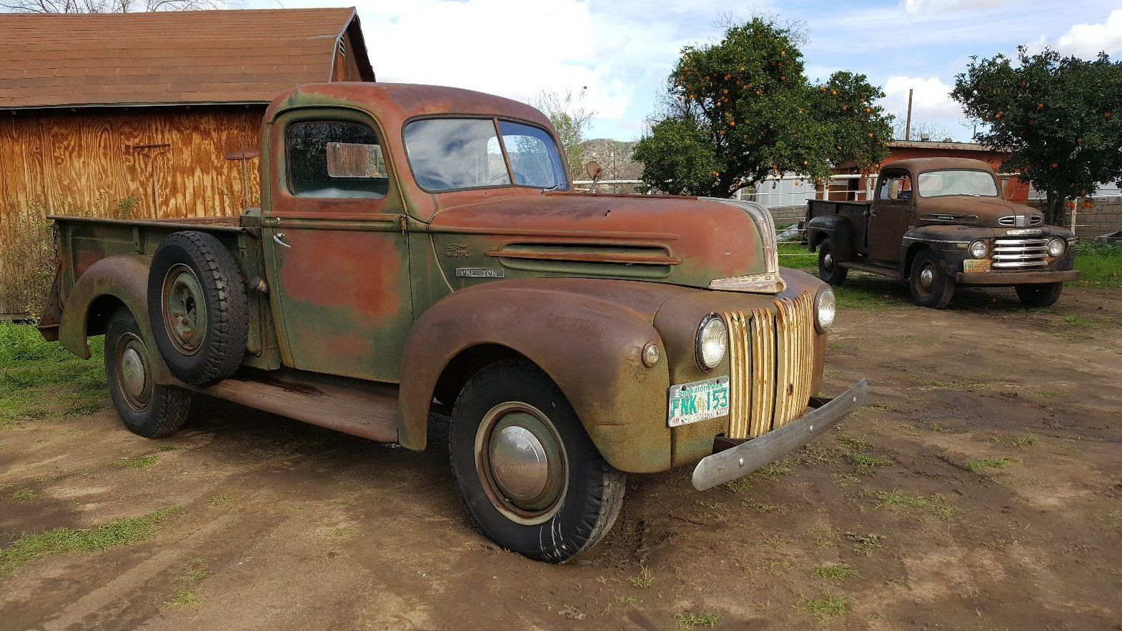 This cool old Ford truck made its way down from Canada into ...