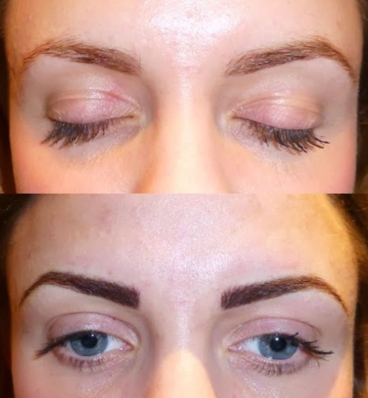 permanent eyebrows before and after photos of fabulously flawless