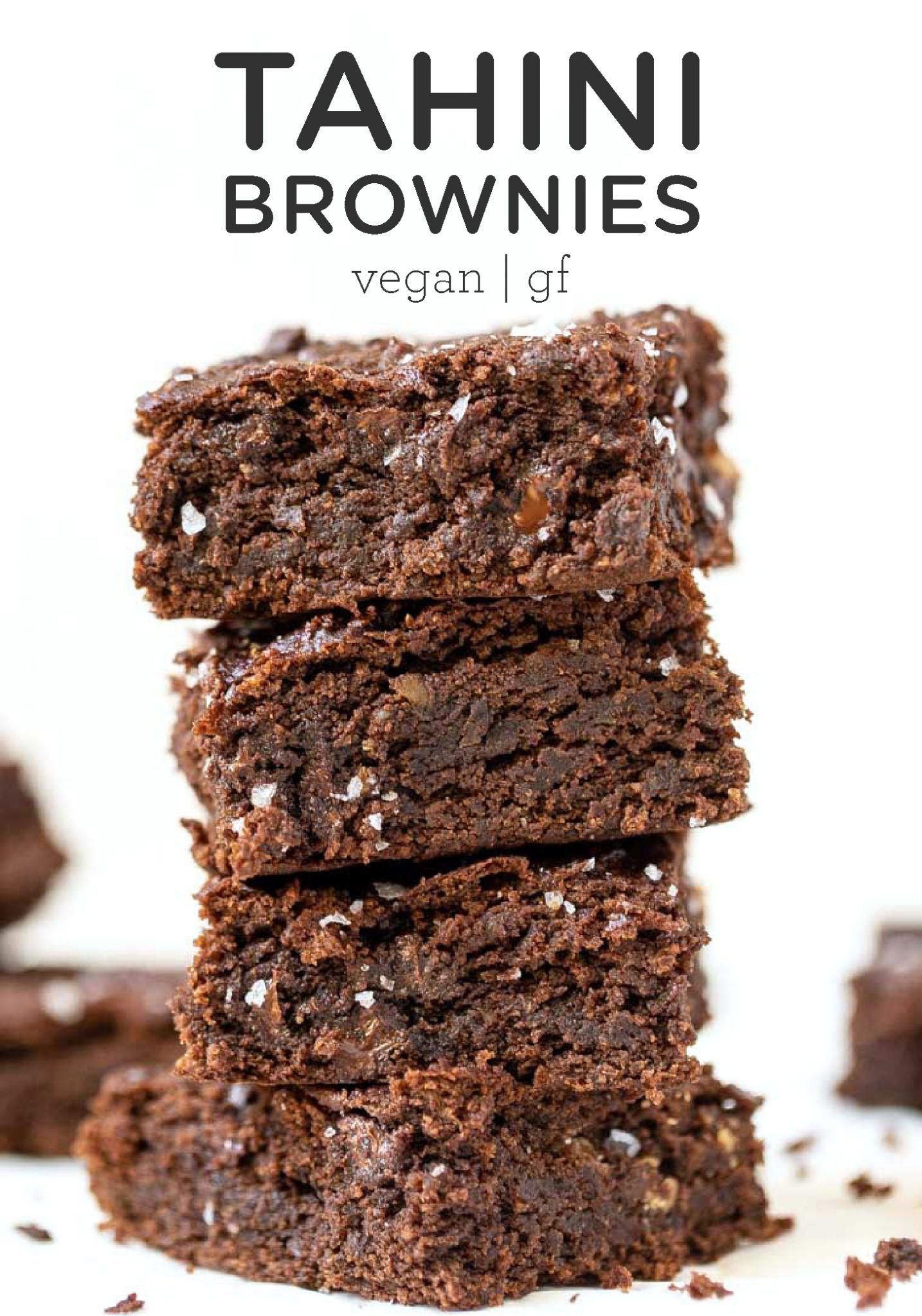 Healthy Tahini Brownies Vegan Gluten Free Simply Quinoa Recipe Coconut Flour Recipes Vegan Brownies Recipe Flour Recipes
