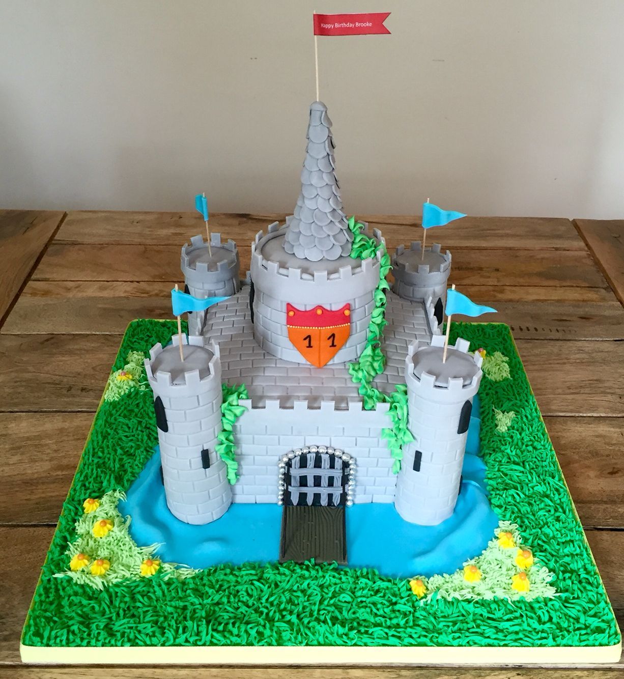 I absolutely loved making this medieval castle cake From the
