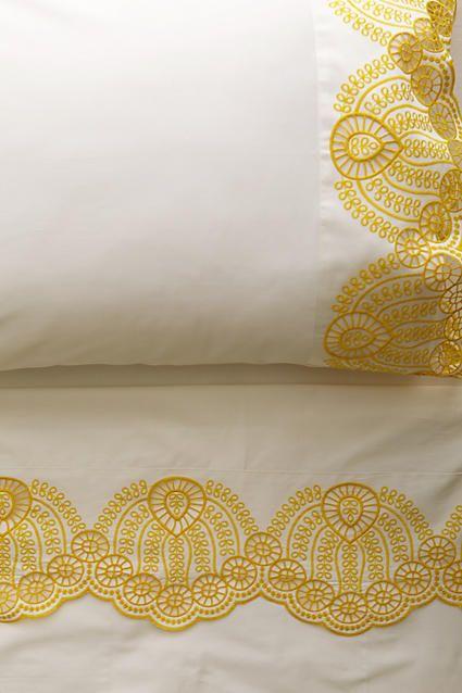 Allegra Hicks Teardrop Embroidered Sheet Set - west elm