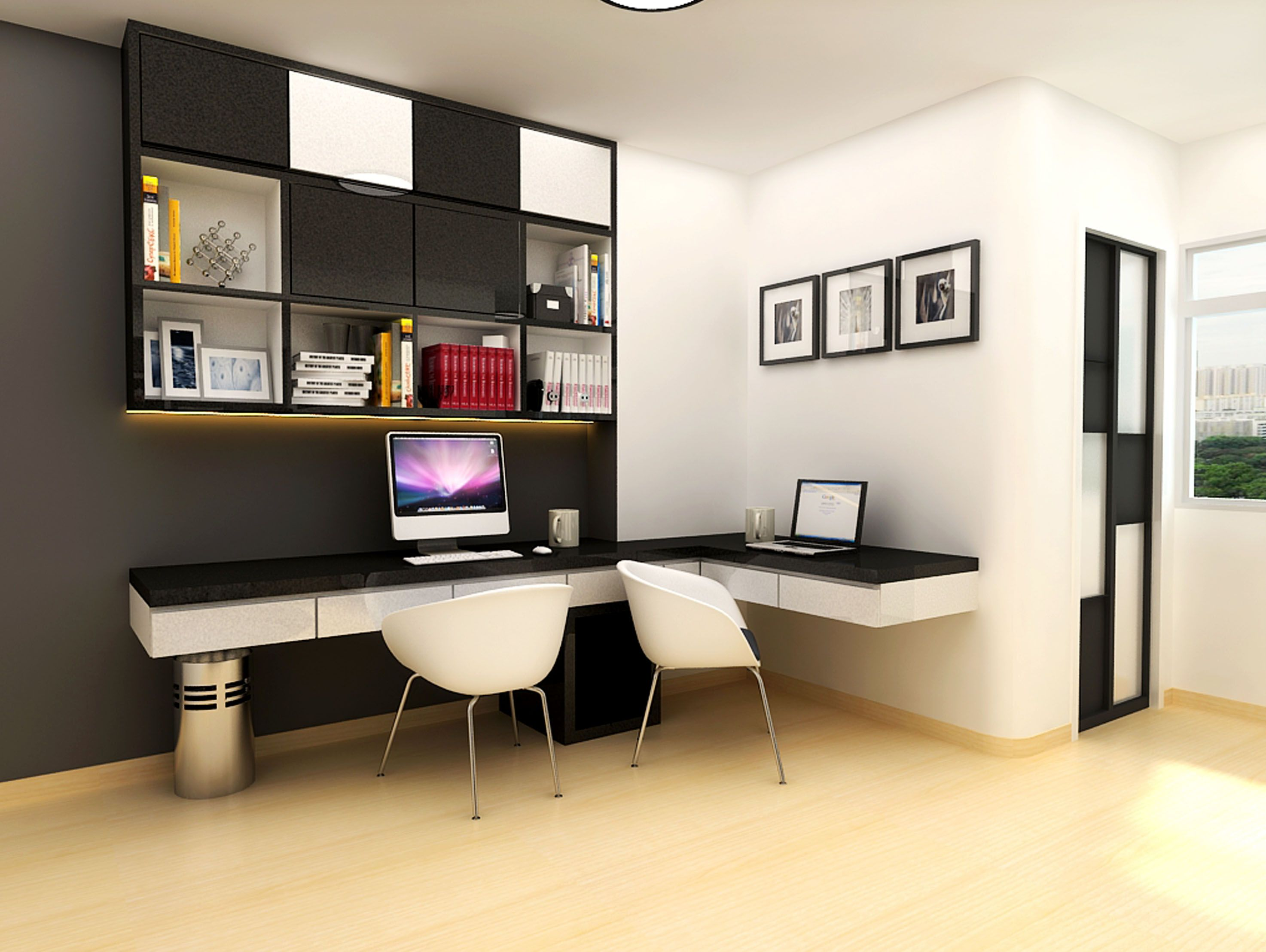Modern study room design home study room with gym for Contemporary room design