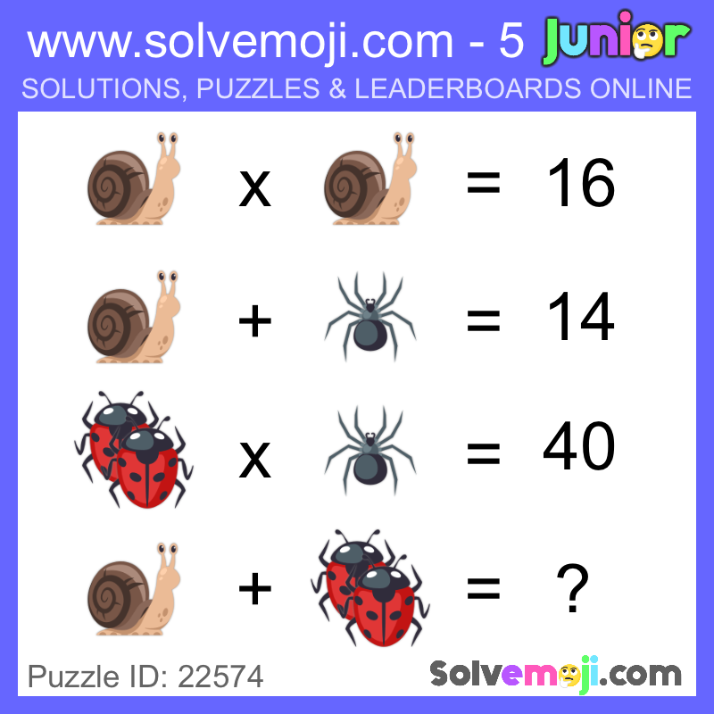 Emoji math puzzles, can you solve it? | חידות חשבון | Maths