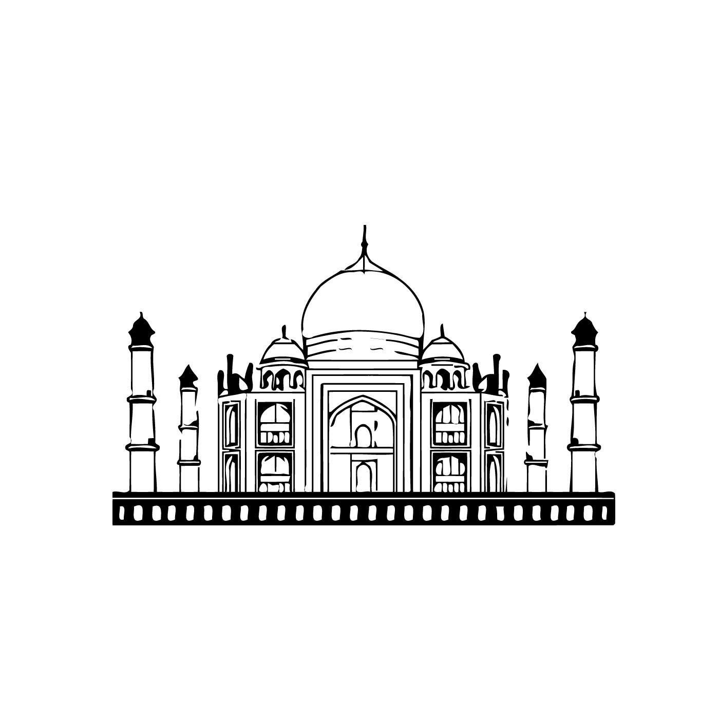 Taj Mahal India Vinyl Wall Decal Sticker Wall Decals And Wall - Custom vinyl wall decals logo   how to remove