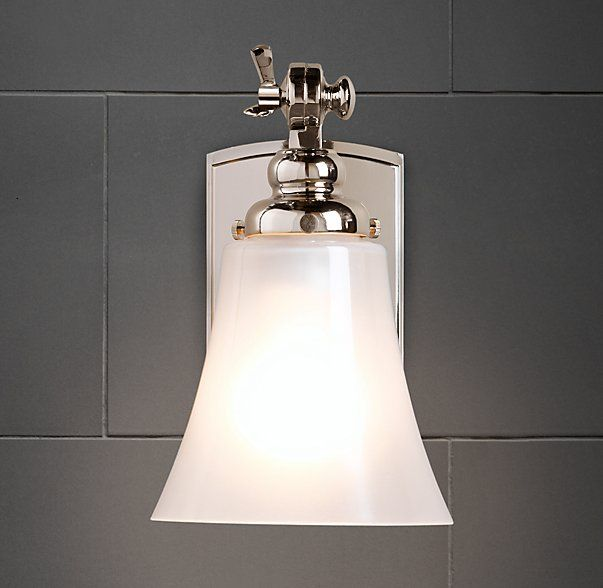 Bistro Sconce By RH In Polished Chrome Bathroom Sconce Option On - Polished chrome bathroom sconces