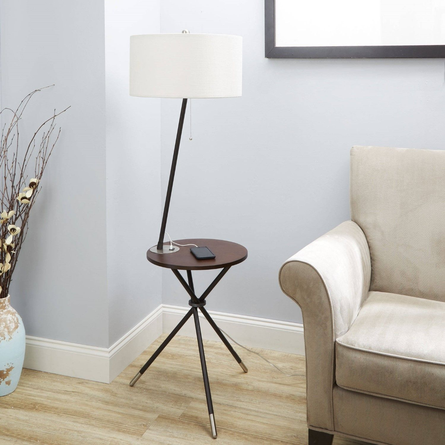 Better Homes And Gardens 4 9 Tripod End Table Floor Lamp Black