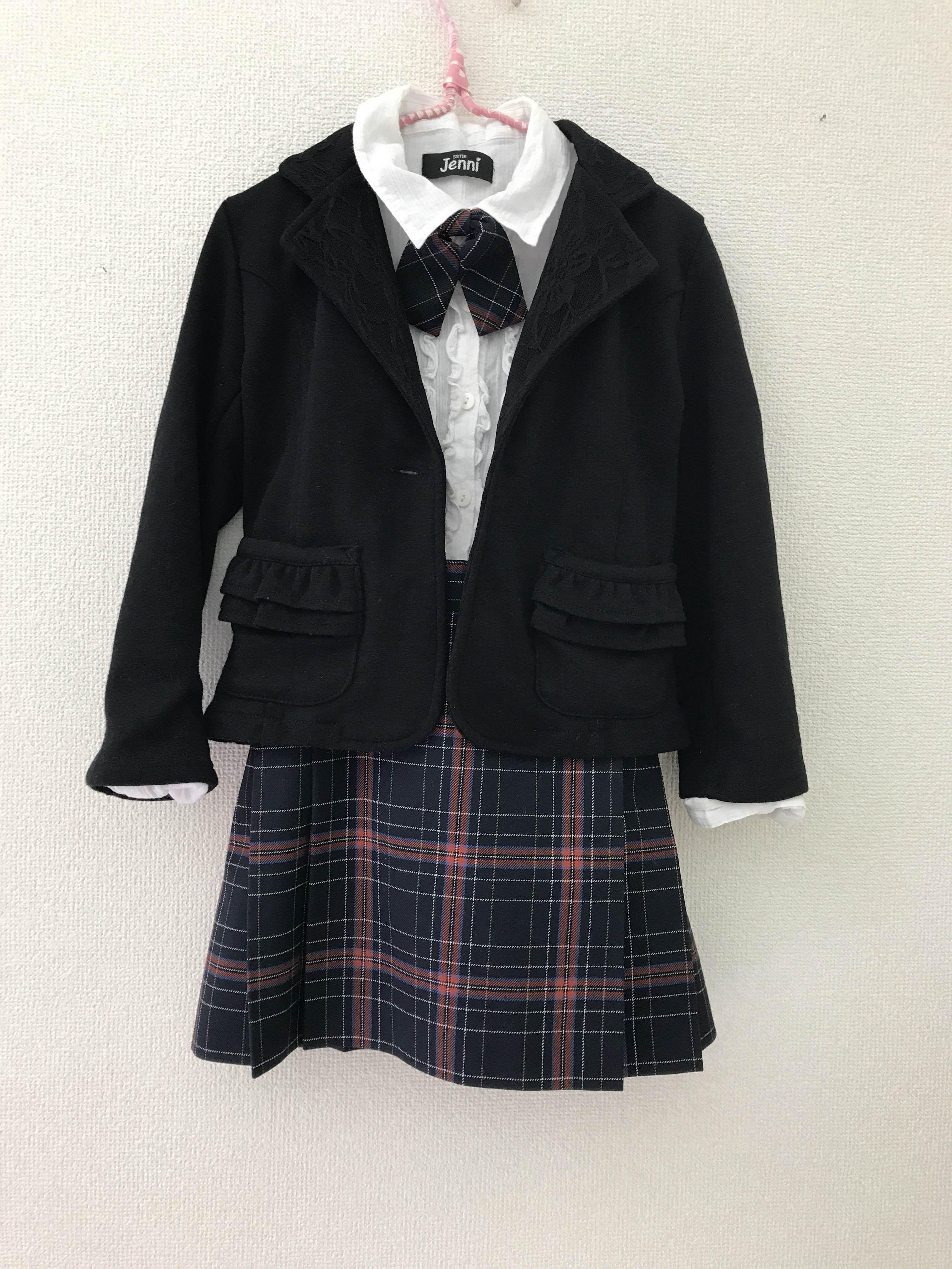 7f78c4363c338 size110㌢ セットアップ スカート リボン ジャケット (ブラウス) 制服メーカーで生地しっかりした素材