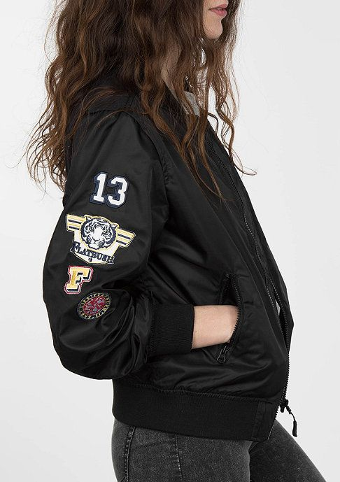 Flatbush Jacke Bomber Summer black Artikelnummer: 6141013; SHOP: snipes.com  #allblackeverything #flatbush #bomber #jacke #streetwear #MA1