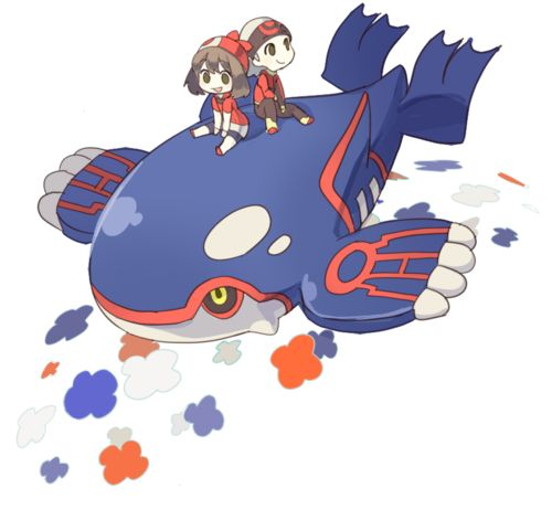 Ruby Sapphire And Kyogre Pokemon Luv Pok 233 Mon