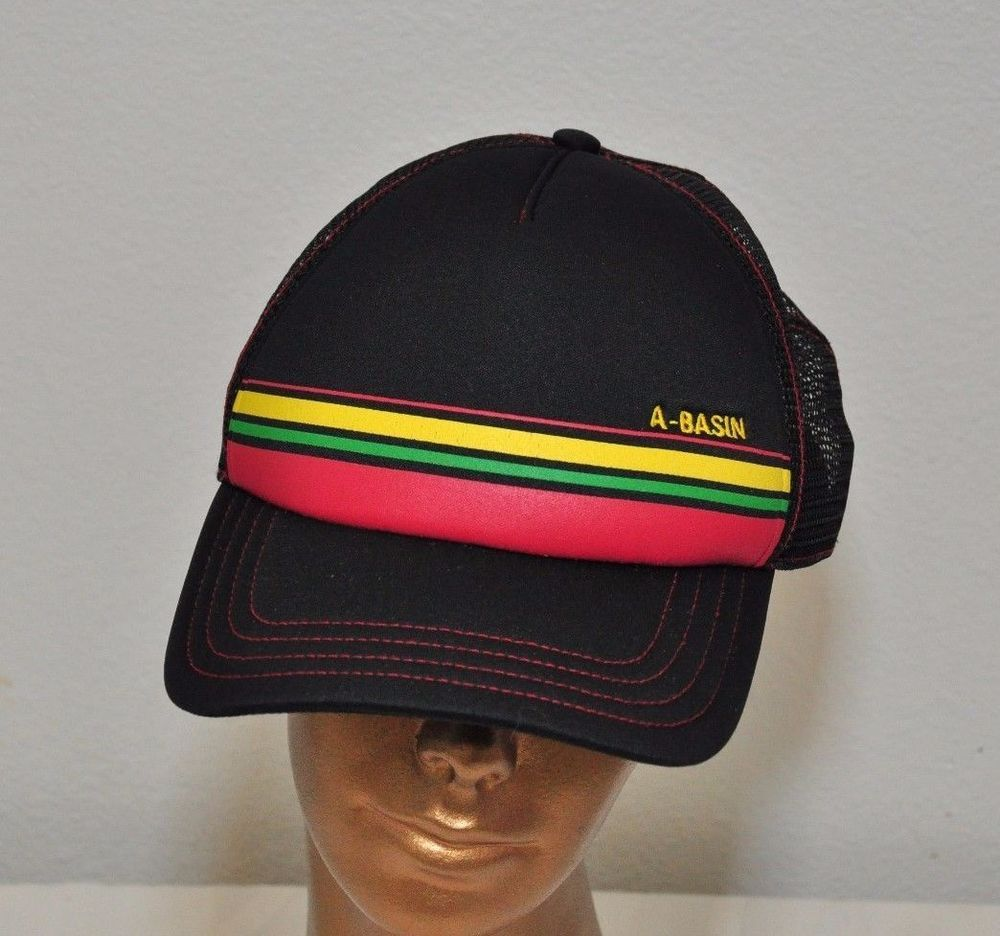 5b5f5e74f Snow Ski A Basin Colorado Trucker Hat mesh hat snapback black ...