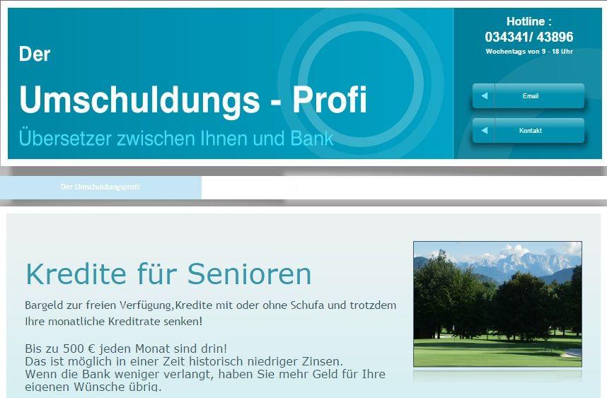 Kredite für Senioren-Umschuldungsprofi.de http://www.umschuldungsprofi.de/Kredite-fur-Senioren.html
